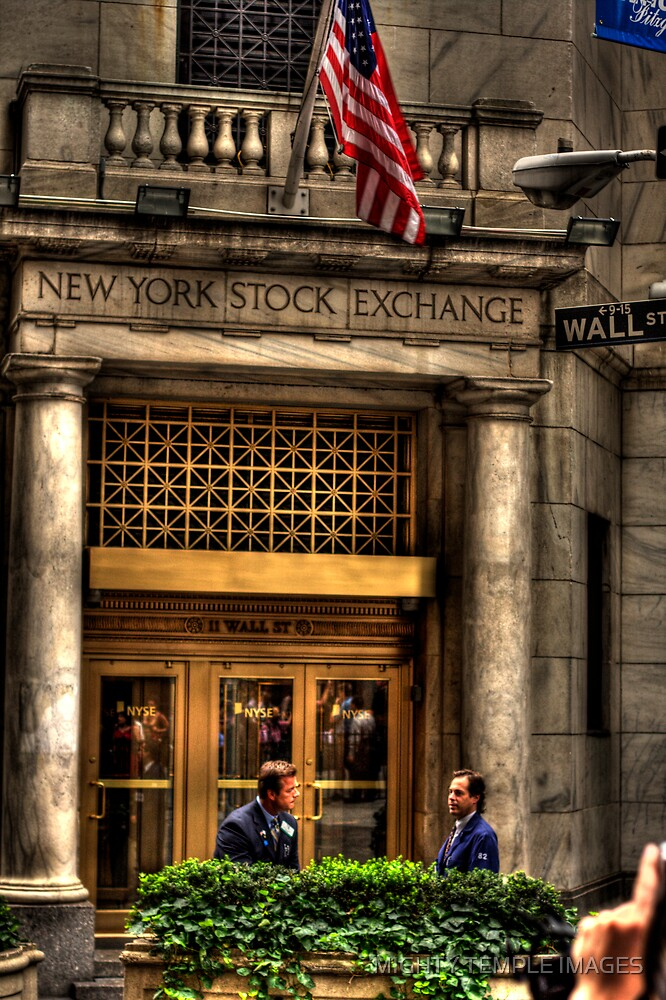 Wall St by MIGHTY TEMPLE IMAGES