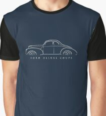 1940 Ford Deluxe Coupe - Profile stencil, white Graphic T-Shirt