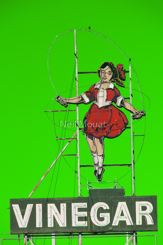 skipping girl in green by Neil Mouat