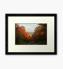 Fall in Pennsylvania - Greenland Road Framed Print