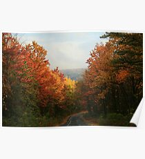 Fall in Pennsylvania - Greenland Road Poster