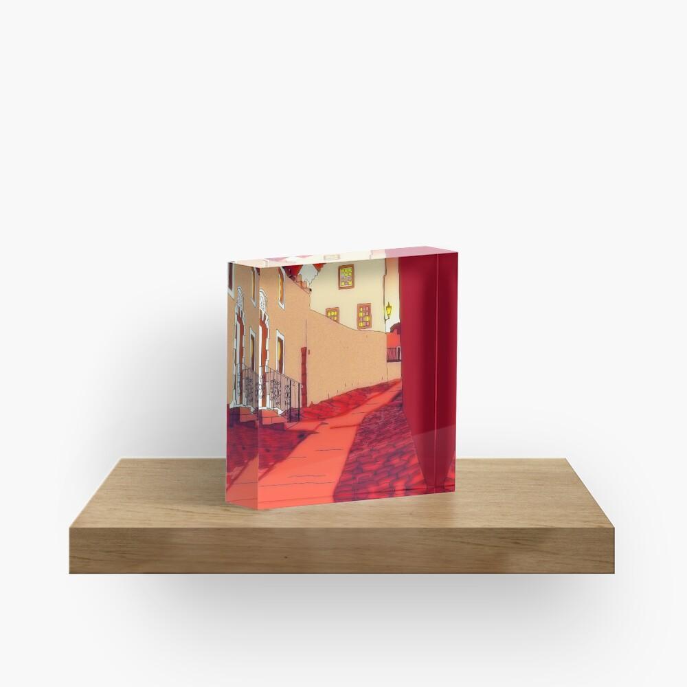 Dysart: Scottish Town digital drawing Acrylic Block