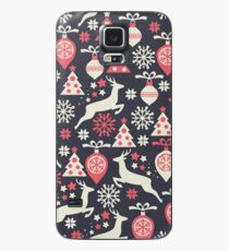 Vintage Retro Christmas Pattern Holiday Case/Skin for Samsung Galaxy