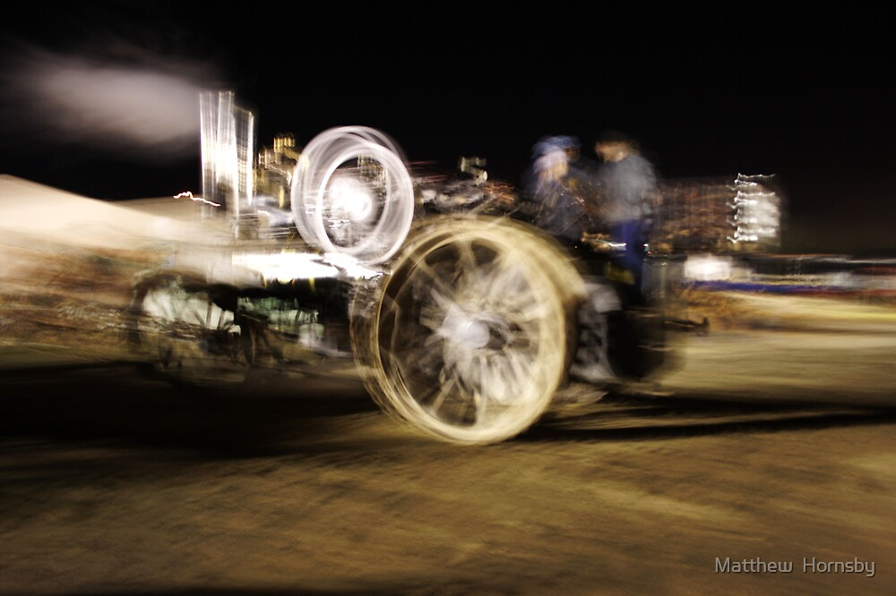 Steam traction engine by Matthew  Hornsby