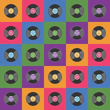 Multicolor Vinyl Records by ClassicFlower