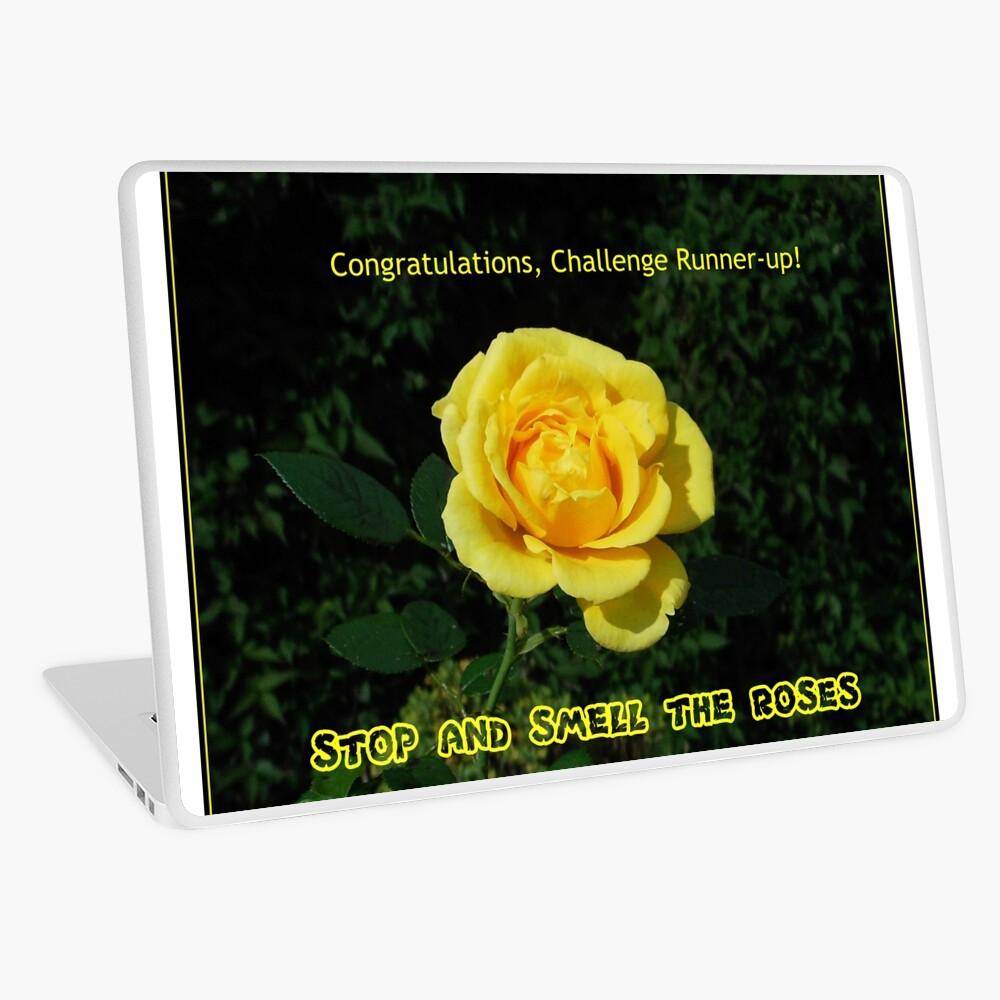 Stoppen Sie und riechen Sie die Rosen - Challenge Runner-up Banner Laptop Folie