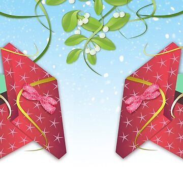 Gift Wrapped Mice by naturespaintbox