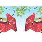 Gift Wrapped Mice by Lesley Smitheringale