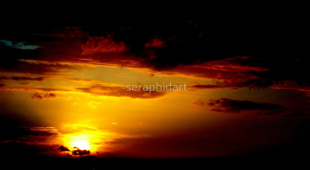 setting sun by seraphidart