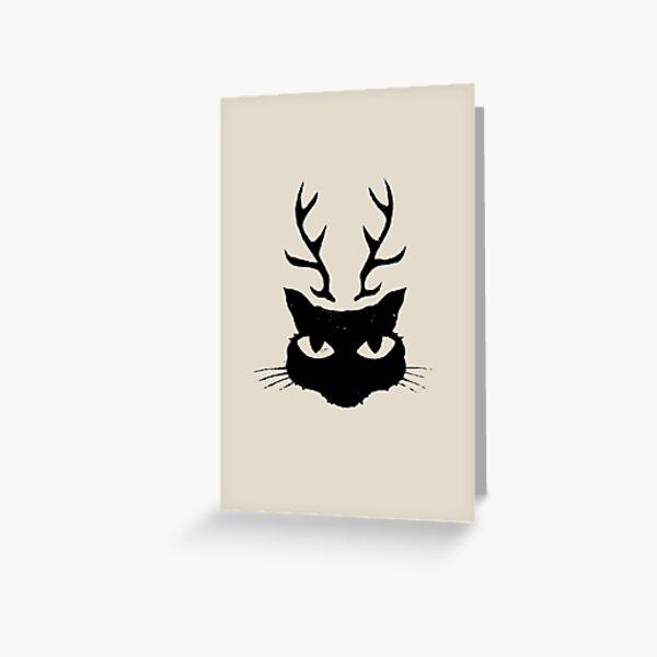 deer cat Greeting Card