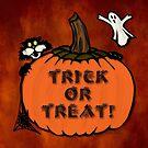 Halloween poster, tote & sticker by Celeste Mookherjee