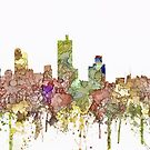 Fort Worth, Texas Skyline SG - verblasst Ruhm von Marlene Watson