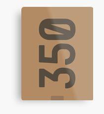 Yeezy Boost 350 Box Illustration  Metal Print