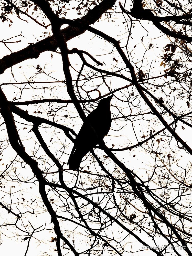 Crow Tee by AmandaBrushett