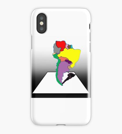 Anamorphic South America iPhone Case/Skin