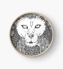 Lion - Doodle Art Clock