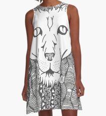 Lion - Doodle Art A-Line Dress