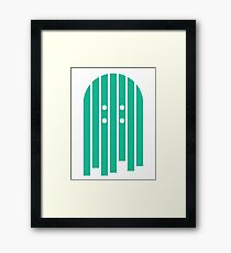 Layered Boards- Grass Stain Green Framed Print