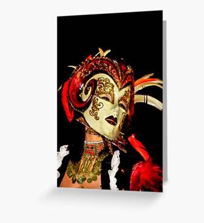 Lady Carnivale Greeting Card