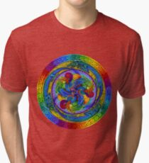 Epiphany Psychedelic Dragons Rainbow Mandala Tri-blend T-Shirt