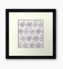 Bicycle drawing pattern  Framed Print