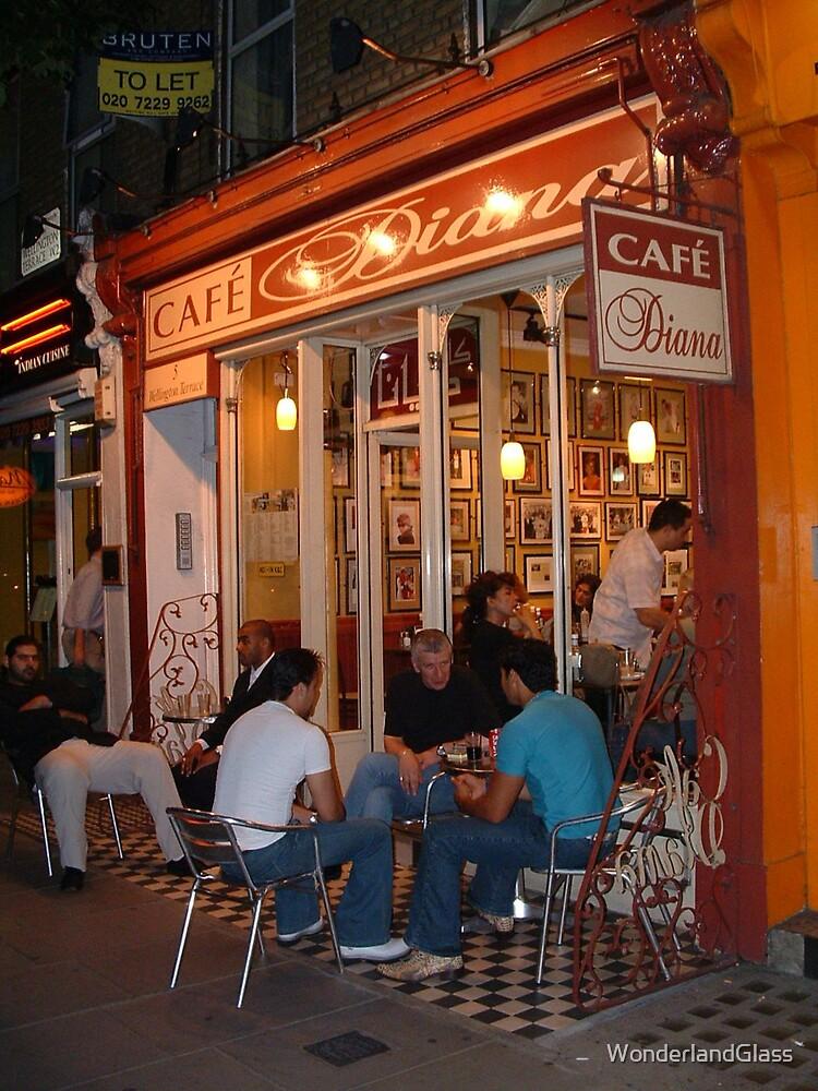 Cafe Diana, Bayswater Road, Kensington by WonderlandGlass