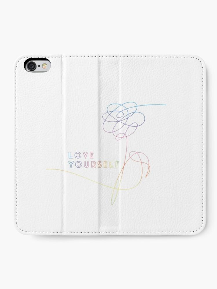 Alternative Ansicht von Liebe dich ihre O Version Armee BTS Bangtan Sonyeondan Kpop Kdrama Merchandise iPhone Flip-Case