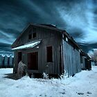 Infrared Abandoned Barn - Scott, AR by mal-photography