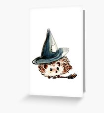 Hedgehog Witch Greeting Card
