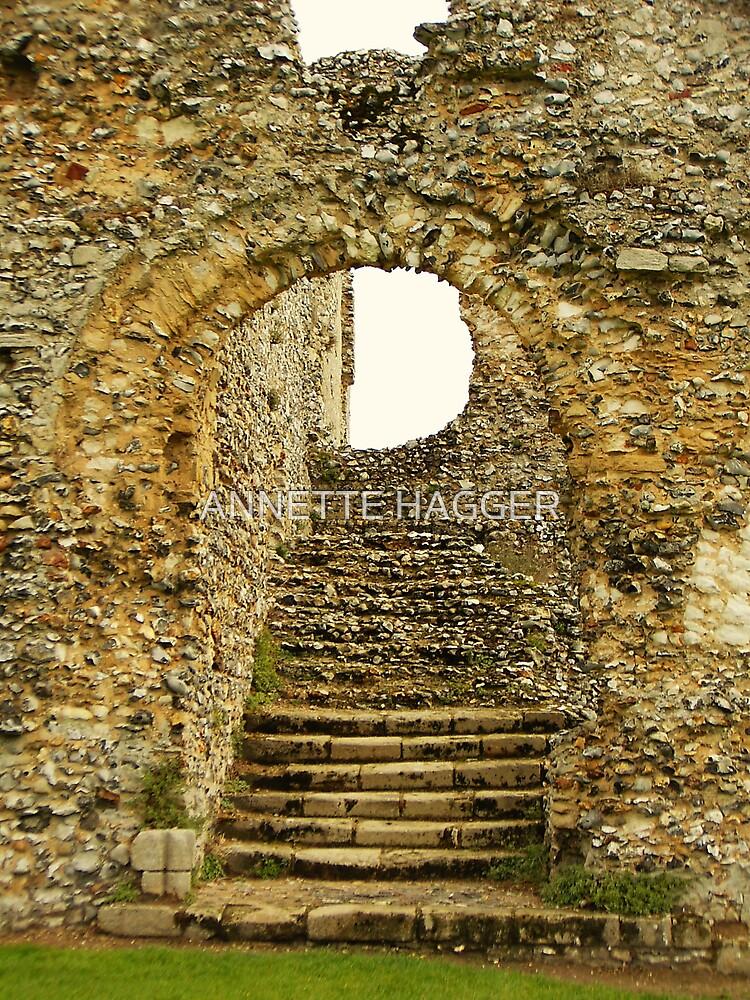 STEPS - CASTLE ACRE RUINS by ANNETTE HAGGER