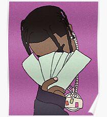 Travis Scott Graphic Art (Purple) Poster