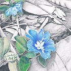 Blue Flowers by Lauren E Tarrant