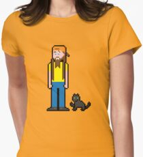 8Bit Smooth McGroove Womens Fitted T-Shirt