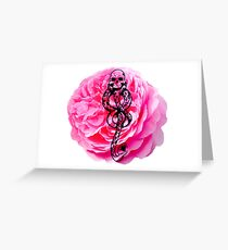 Carnations & Dark Marks Greeting Card
