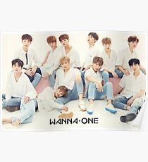 Póster Cartel de perfil de grupo WANNA-ONE (황 미현) ft.