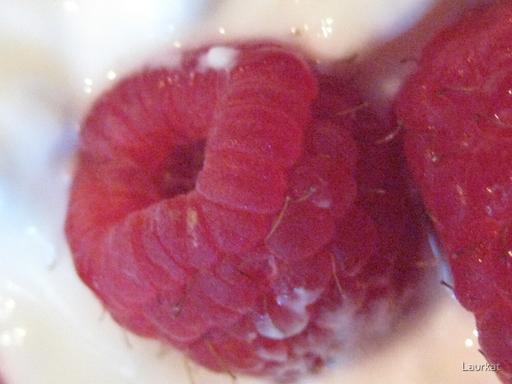 raspberry and fresh cream by Laurkat