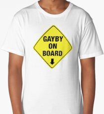 GAYBY ON BOARD clothing Long T-Shirt