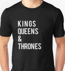 Kings Queens and Thrones Print T-Shirt