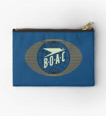 Classic 1950's BOAC™ Logo Zipper Pouch