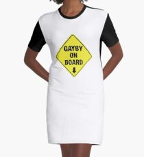 GAYBY ON BOARD clothing Graphic T-Shirt Dress