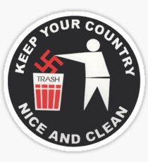 Keep Your Country Clean - Anti-Nazi Sticker