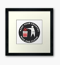 Keep Your Country Clean - Anti-Nazi Framed Print