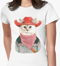 Rodeo Cat Women's Fitted T-Shirt