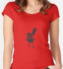 Iconic Grasswren Women's Fitted Scoop T-Shirt