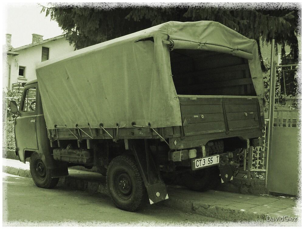 Lorry in sepia by DavidGlez