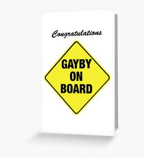 GAYBY ON BOARD cards Greeting Card
