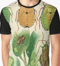 Bronze Orange Bug Graphic T-Shirt