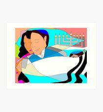 Mishpuchah Chanukah, Family Tradition Art Print