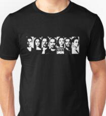 Dunkle Materie - Raza Crew Schablonen-Stil Slim Fit T-Shirt