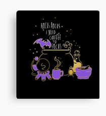 Hocus Pocus I Need Coffee to Focus Canvas Print